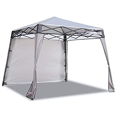 EzyFast Elegant Pop Up Beach Shelter, Compact Instant Canopy Tent, Portable Sports Cabana, 7 x 7 ft Base / 6 x 6 ft top for Hiking, Camping, Fishing, Picnic, Family Outings (Khaki)