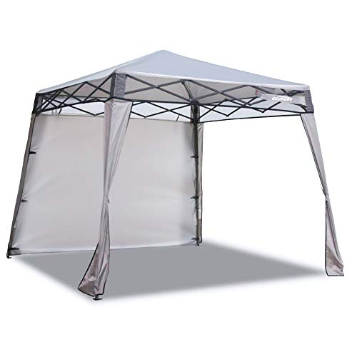 EzyFast Elegant Pop Up Beach Shelter, Compact Instant Canopy Tent, Portable Sports Cabana, 7 x 7 ft Base / 6 x 6 ft top for Hiking, Camping, Fishing, Picnic, Family Outings ()