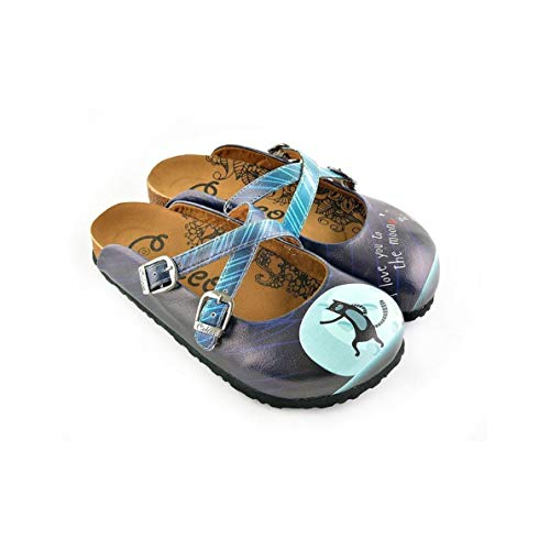 Blue I Love You to The Moon & Back Clogs WCAL138