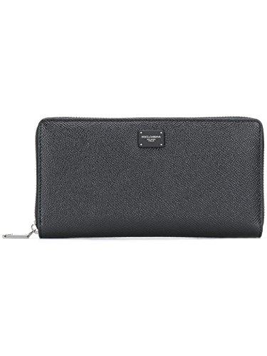 Dolce Gabbana Leather Purse - Dolce E Gabbana Men's Bp1672ai35980999 Black Leather Wallet