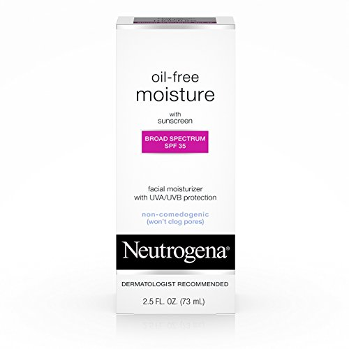 Neutrogena Oil-Free Daily Facial Moisturizer With Broad Spectrum SPF 35 Sunscreen, Dermatologist Recommended, Fragrance-Free, Non Comedogenic and Hypoallergenic 2.5 fl. oz