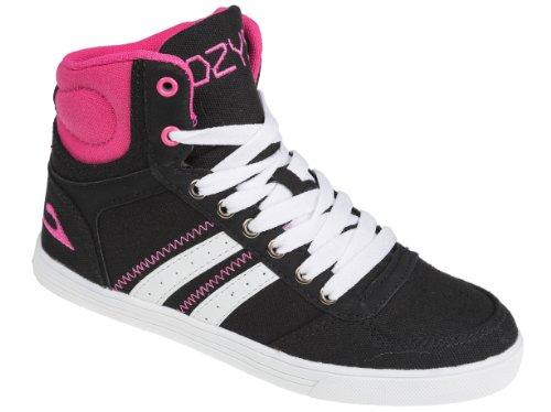 Gibra, zapatillas deportivas para mujer Negro - Noir - Nero / Rosa