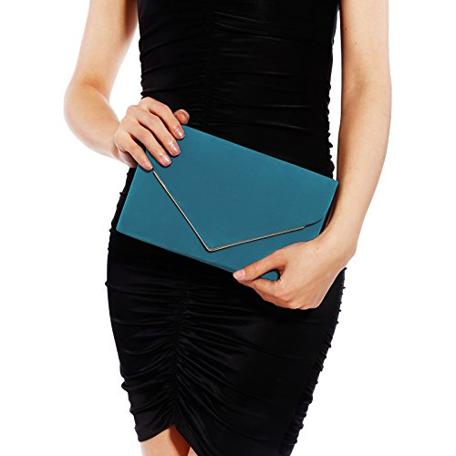 sac chaine besace suede a Anladia Metal Pochette mariage decor sac Nude main Faux Sacoche soiree tITqqPx