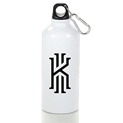 ZZYY Portable Basketball Superstar Kyrie #2 Irving Custom Outdoor Sport Flask White With Carabiner Hook