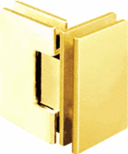CRL Geneva 092 Series Gold Plated 90176; Glass-To-Glass Hinges - Gold Plated Geneva Series