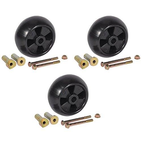 ((3) New Deck Wheel/Roller Kits John Deere AM116299 AM133602 for 38
