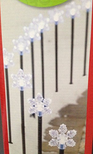 Twinkling Snowflake Lit Pathway Lights Marker - 10 Count - 12