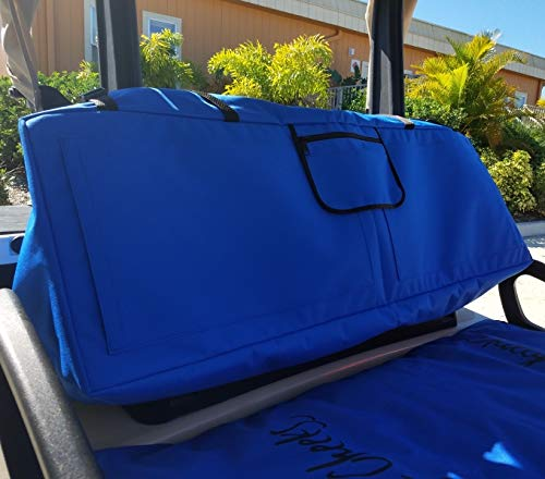(Chilly Cheeks Seat Covers Double Golf Seat and Seat Back Covers with Hot/Cold Gel Packs for Luxurious Comfort. Fits All Standard Golf Cart Seats with Adjustable Straps to Hold it in Place )