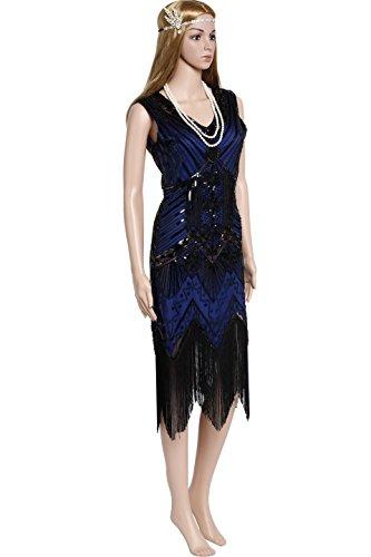 BABEYOND Damen Flapper Kleider voller Pailletten Retro