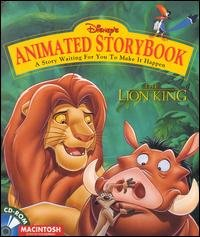 Lion King Computer Game - Lion King Storybook / CD Rom Mac