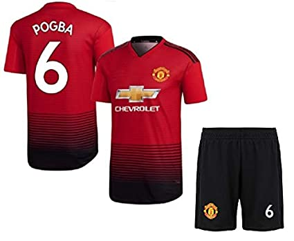 275bd203d HeadTurners Non Manchester United Football Home Jersey Set of T Shirt and  Shorts of Paul Pogba