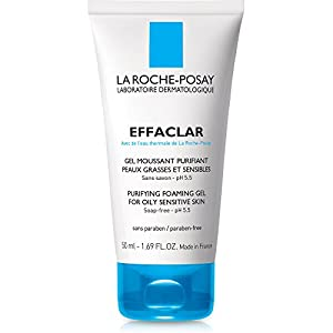 La Roche-Posay Effaclar Purifying Foaming Gel Face Wash Cleanser for Oily Skin, 1.69 Fl. Oz.