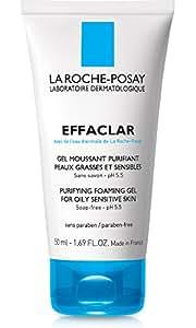 La Roche-Posay Effaclar Purifying Foaming Face Wash Gel Cleanser for Oily Skin Sensitive Skin, 1.69 Fl. Oz.