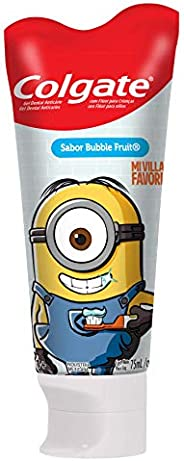 Colgate Gel Dental Smiles Minions para Niños, Sabor Bubble Fruit, 75 ml