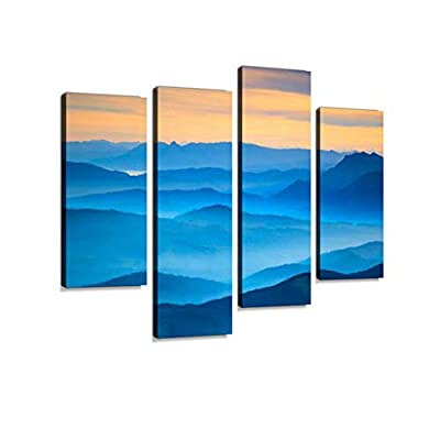 Landscape Aerial View Canvas Wall Art Hanging Paintings Modern Artwork Abstract Picture Prints Home Decoration Gift Unique Designed Framed 4 Panel