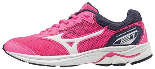 Scarpe da grigio Wave bambini scuro per Mizuno corsa miste rosa Rider bianco Jnr 21 wSIxx4Xq7
