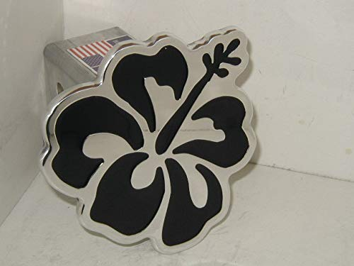 Hibiscus Hitch Cover Flower Hitch Cover Black ()