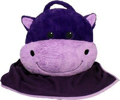 Intelex Hippo Pillow Huggeez Huggable Blanket (Hippo Travel Blanket)