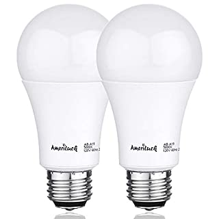 AmeriLuck 100W Equivalent A19 LED Light Bulbs, 15Watts Non-Dimmable 1600LM (5000K | Daylight, 2 Pack)