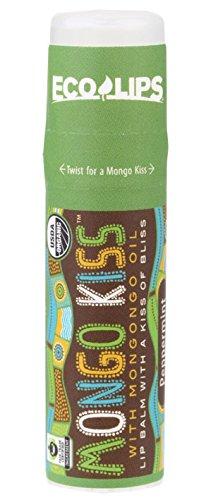 Eco Lips Mongo Kiss Display Center Lip Balm Organic, Peppermint, 0.25 Ounce