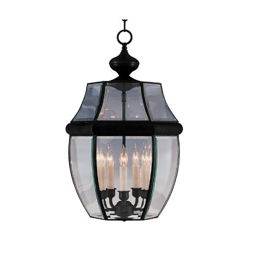 Maxim 6096CLBK, South Park Incandescent Outdoor Hanging Lantern, 5 Light, 40 Watts, Black