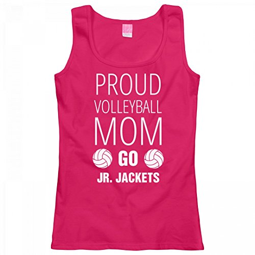 Proud Volleyball Mom Go Jr. Jackets: Ladies LAT Relaxed Fit Scoopneck Tank Top (Jr Mom Proud Raglan)