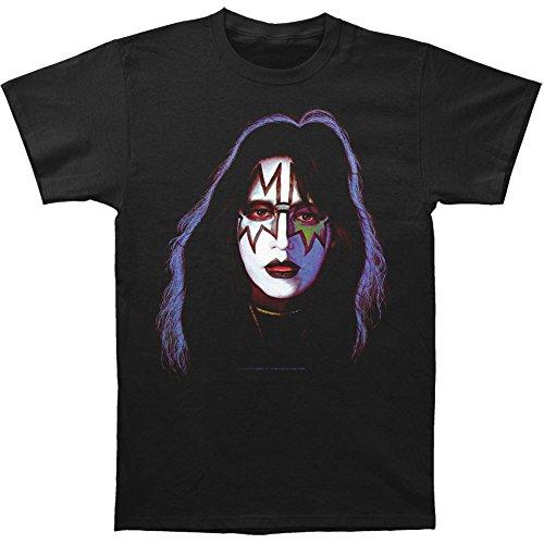 Impact Kiss Ace Frehley Face Paint Print Mens Classic Cotton Shirt