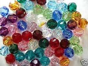GOELX Crystal Swarovski Colorful Jewelry Making Beads, Size 8Mm ()