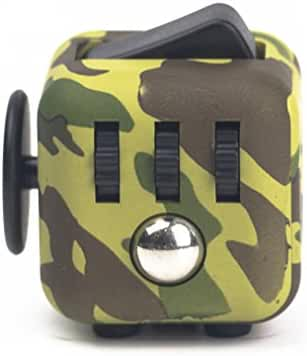 Official Stress Cube (5 COLORS) by TheStressCube.com - A Fidget Cube For Adults And Children With Anxiety, Stress, ADD & ADHD (Heat Seeker (Camouflage/Black))