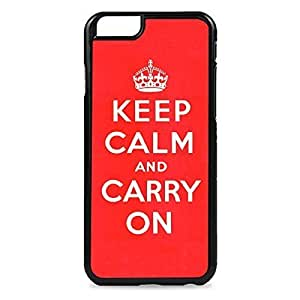 Case Fun Case Fun Red Keep Calm and Carry On Snap-on Hard Back Case Cover for Apple iPhone 6 4.7 inch