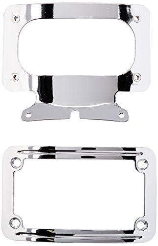 Kuryakyn 3163 Curved License Plate Mount (Plate Curved Kuryakyn Frame License)