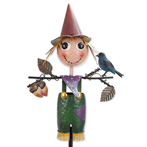 Bits and Pieces - Scarecrow Garden Stake - Metal Outdoor Lawn and Yard Décor