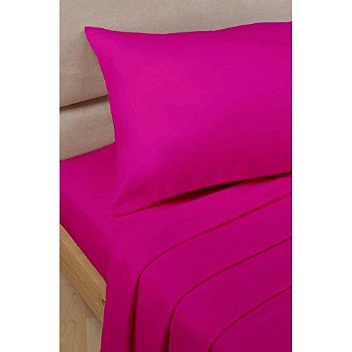 LaxLinens 600 fils cm², drap plat et drap simple en euros, rose 100%  Bois massif coton
