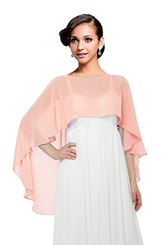 Wedding Capes Womens Soft Chiffon Shrug Bridal Long Shawl and Wraps (Color83)