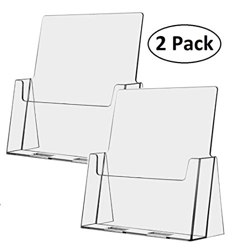 T'z Tagz Brand Full Page 8.5 X 11 Acrylic Literature Document Brochure Holder 2 Pack