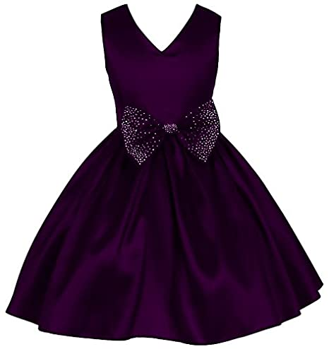 08179d16fe Pink Wings Girls Satin Frock (Wine): Amazon.in: Clothing & Accessories