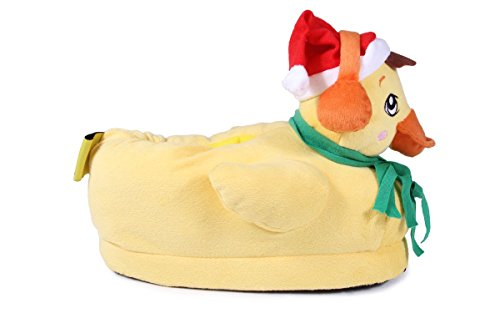 Happy Feet 50+ Styles - Premium Full Foot Mens and Womens Animal Slippers Duck The Halls 6TqSmWA3rD