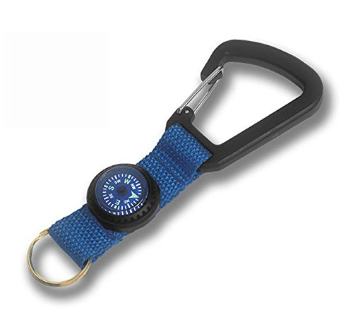Silva Vehicle Car Brass Carabiner Keychain Holder Ring and Liquid-Filled Compass (Luminous Key Ring Compass)