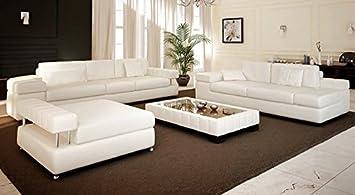 Sofagarnitur Couch Leder Weiss Munchen Amazon De Kuche Haushalt