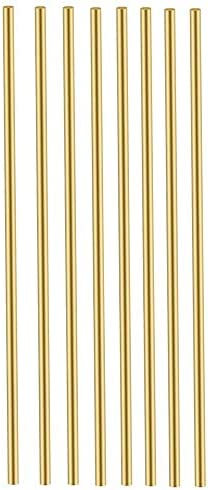 8 PCS Brass Rods 1/8 Brass Round Stock Lathe Bar Stock Kit Round Brass Stock Solid Brass Rods1/8 Inch in Diameter 12 Inch in LengthC36000