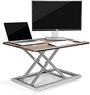 UPERGO Standing Desk Converter, Height Adjustable Sit Stand Up Desk  30inx20in,Aluminum Made Design for Monitor and Laptop,Sit to Stand in