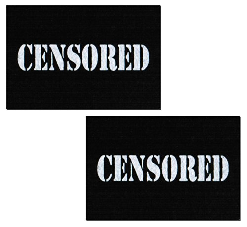 Black Censored Bar Nipple Pasties by Pastease o/s