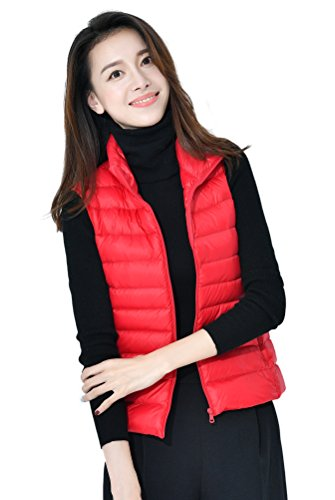 Calentar Soporte Chaqueta Colores Mujeres Coat Rojo Las Santimon De Del Down Ligero Abajo Collar Packable Disponibles 10 Chaleco qAtwxPSB