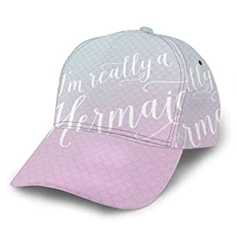 Liliylove Im Really A Mermaid Gorra de béisbol Ajustable para ...