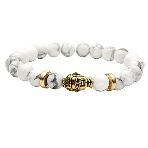 JOVIVI Unisex Turquoise Energy Bracelets