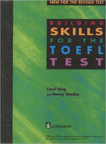Amazon Building Skills For The Toefl Test 9780175571345 Carol King Nancy Stanley Books
