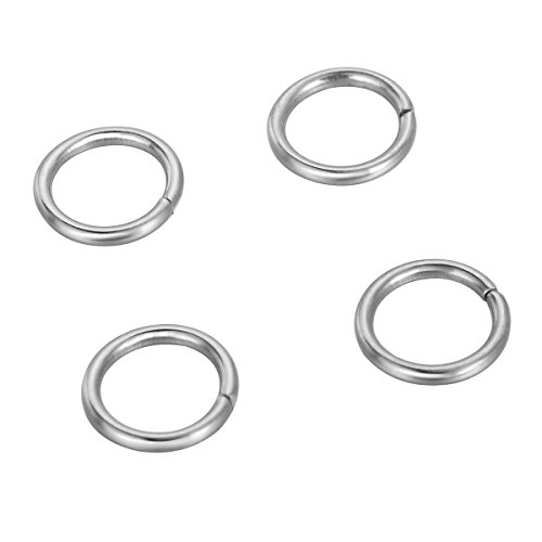 Shengyaju 500PCS Stainless Steel Open Jump Rings Connectors Jewelry Findings Silver Tone - Gold Hoops 3.5 Mm