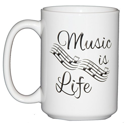 Handmade 15oz Music is Life Coffee Mug