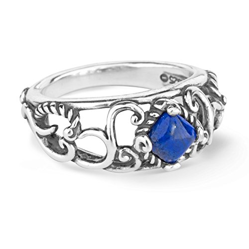 Carolyn Pollack Sterling Silver Blue Lapis Gemstone Band Ring Size 5