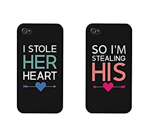 I Stole Her Heart, So I'm Stealing His Matching Couple Phone Cases for iphone 4, iphone 5, iphone 5C, iphone 6, iphone 6 plus, Galaxy S3, Galaxy S4, Galaxy S5, HTC M8, LG G3 by runtopwell